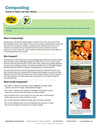Water Fact Sheet Composting Page 1