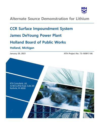 Alternate Source Demonstration for Lithium