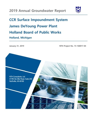 CCR Groundwater Annual Report 2019