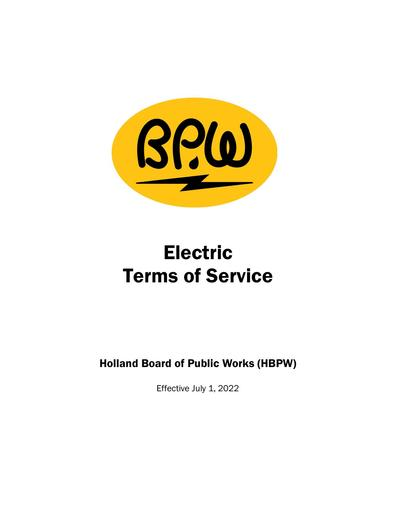 Terms of Service - Electric