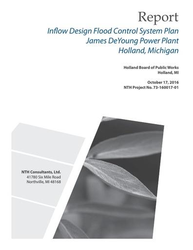 CCR Inflow Design Flood Control Plan