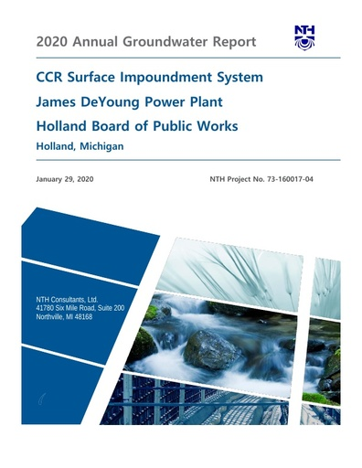 CCR Groundwater Annual Report 2020