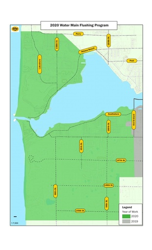 2020 Water Main & Hydrant Flushing Map