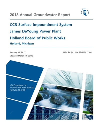 CCR Groundwater Annual Report 2018 Revised